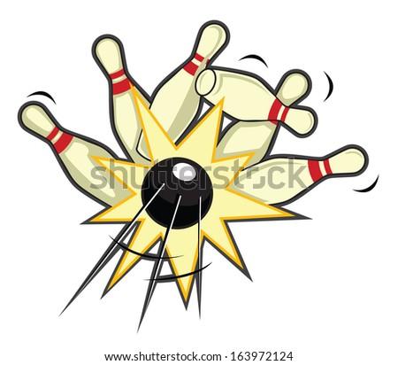 bowling pin - stock vector
