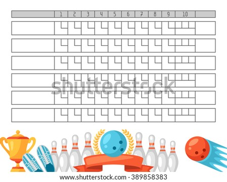 Bowling Score Stock Images RoyaltyFree Images  Vectors
