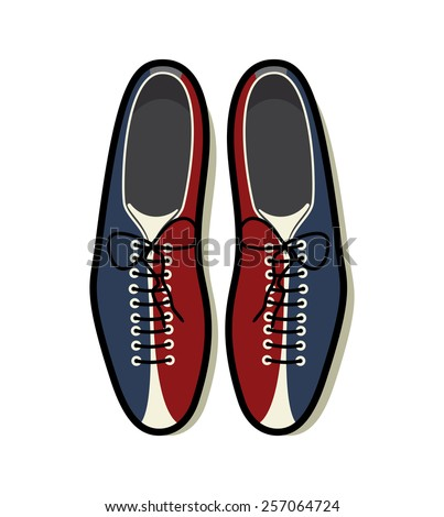 Bowling shoes vector icon - stock vector