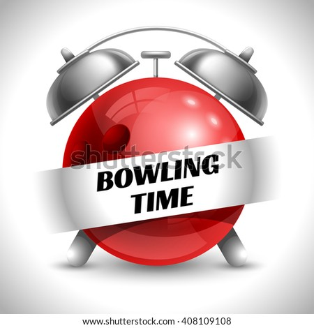 Red Bowling Ball Crashing Into White Stock Vector ...