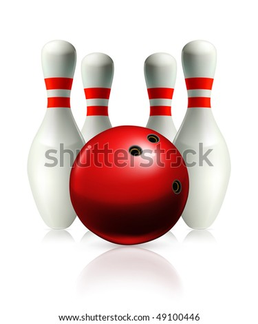 Bowling, vector illustration - stock vector