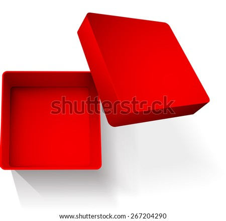 box abstract vector illustration isolated with shadow eps 10 / box