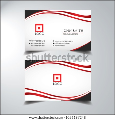 box business card simple curve