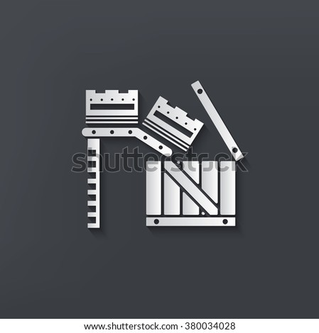 Box,cargo design on clean background,vector - stock vector