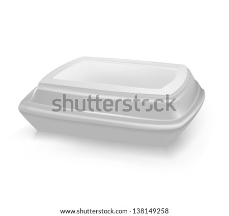 box for food - stock vector
