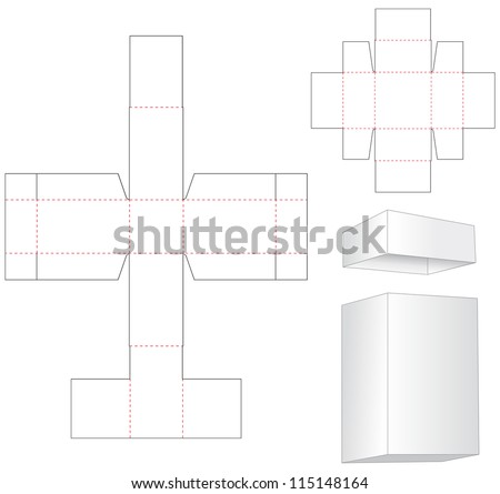 box for wine bottle  - stock vector