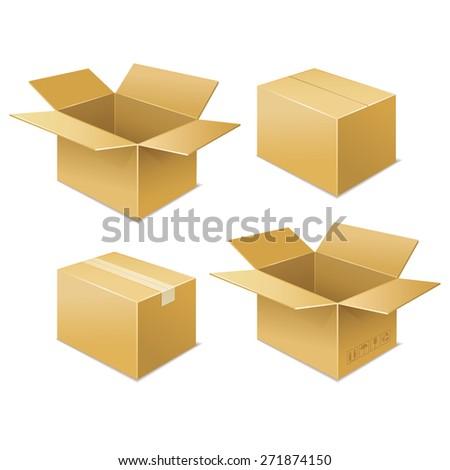 box. free shipping icon - stock vector
