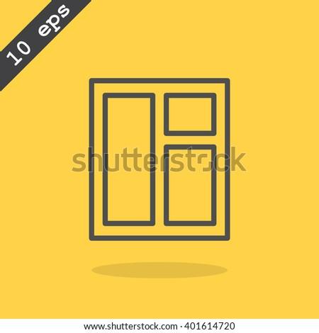 Front Door With Window Skewed Skewed Colorful Cartoon Door