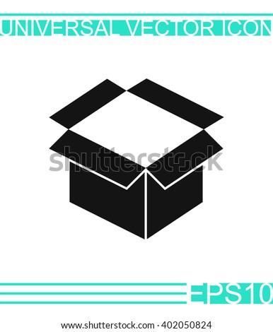 Box icon vector. Box icon illustration. Box icon picture. Box icon design. Box icon web. Box icon Eps10. Box icon image. Box icon logo. Box icon sign. Box icon art. Box icon flat. - stock vector