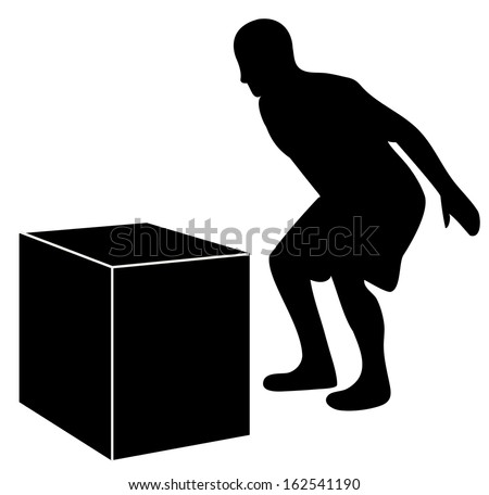 Box Jump Silhouette For Crossfit