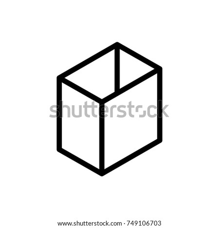 Box line icon. High quality black outline logo for web site design and mobile apps. Vector illustration on a white background.