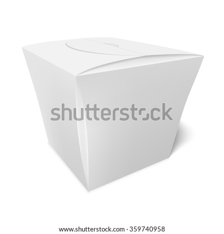 Box of candy, cookies, or a gift, take away food, Chinese food packaging, packaging for fast food. - stock vector