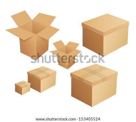 Box packaging - stock vector