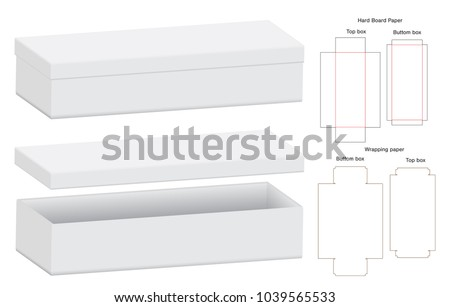 Box Packaging Die Cut Template Design Stock Vector (Royalty Free ...