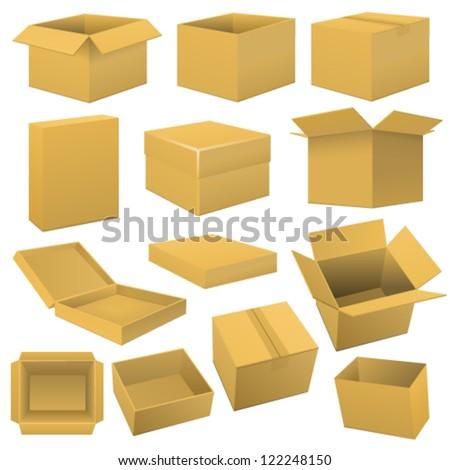 Box set. Vector - stock vector