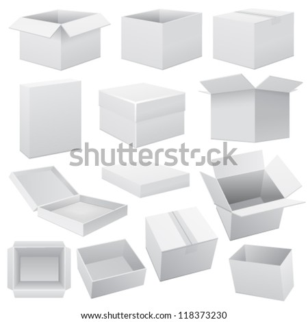 Box set. Vector Web - stock vector