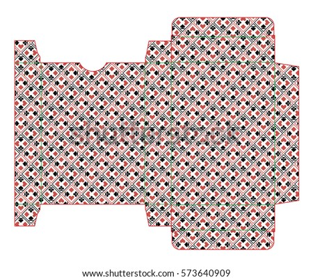 Box template playing card deck stock vector 573640909 shutterstock box template playing card deck pronofoot35fo Choice Image