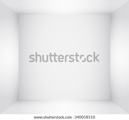 Box Top View. Inner Space of the Box. White Empty Room Interior. Vector illustration