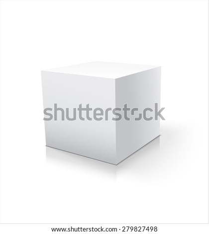 Box white icon. Template for your design. Vector illustration.