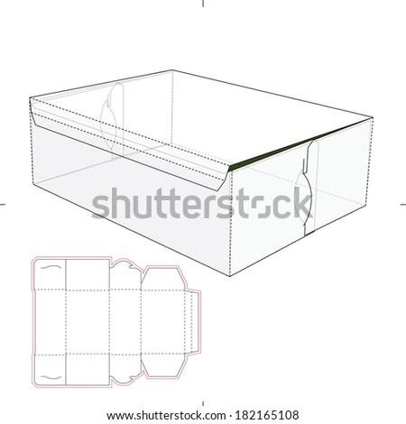 Box with Die-cut Pattern - stock vector