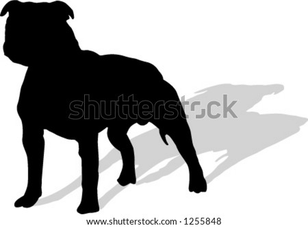 boxer dog - stock vector