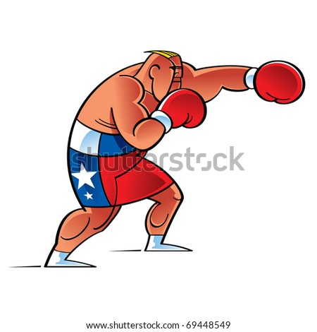 Boxer Fighter in the Ring sport success strong sport health recreation - stock vector