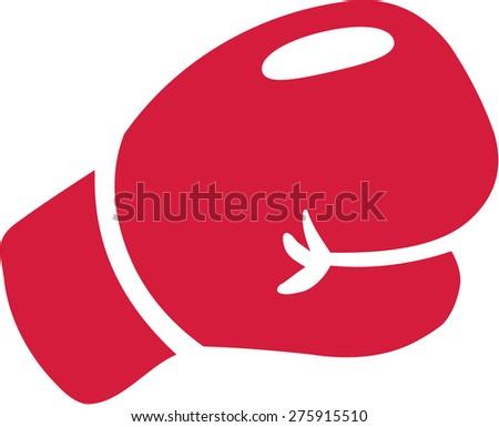 Boxer Glove - stock vector