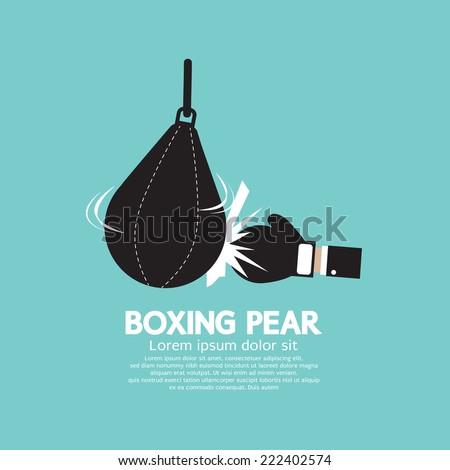 Boxer Pear Boxing Gear Vector Illustration - stock vector