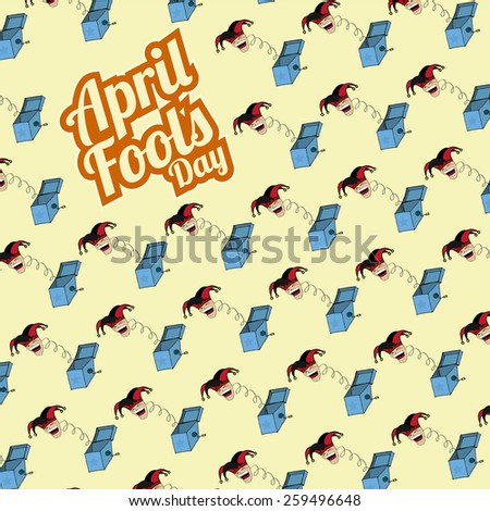 boxes surprises pattern fool's day - stock vector