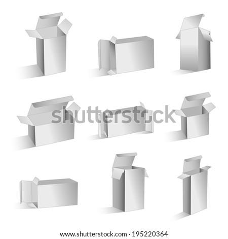 Boxes vectors - stock vector