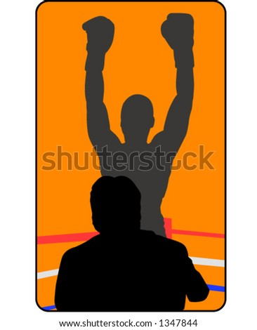 boxing champ - stock vector