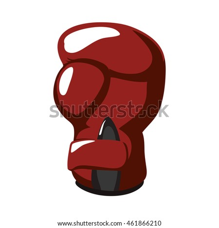 Boxing concept represented by Glove icon. Isolated and flat illustration