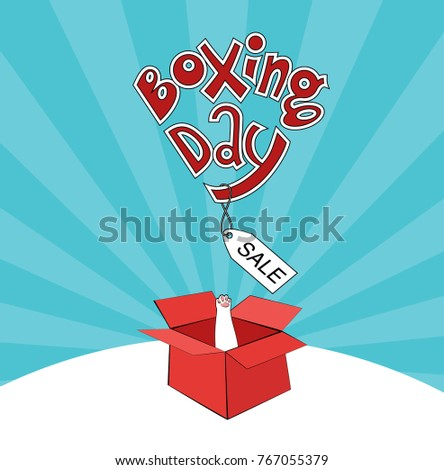 Boxing Day Red Box Sale Stock Vector 767055379 Shutterstock