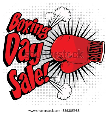 Boxing Day sale design stock vector illustration. - stock vector