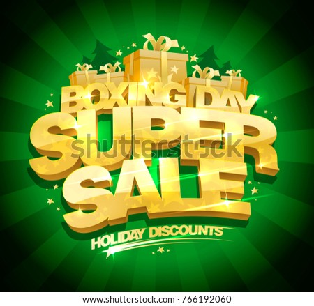 boxing day super sale vector design concept