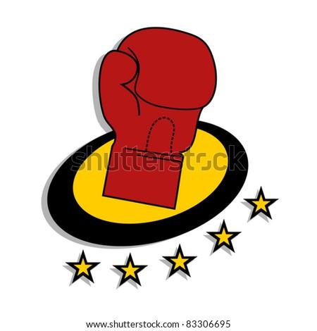 Boxing emblem - stock vector