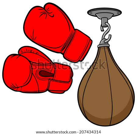 Boxing Equipment - stock vector
