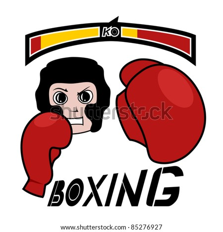 Boxing game - stock vector