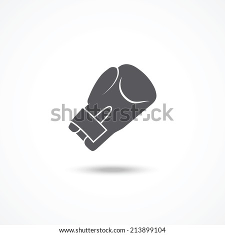 Boxing glove icon - stock vector