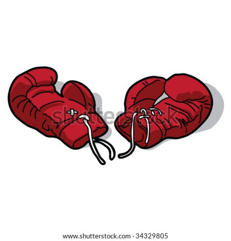 Boxing Gloves - stock vector