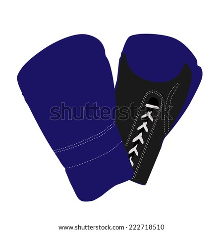 Boxing gloves, boxing gloves isolated - stock vector