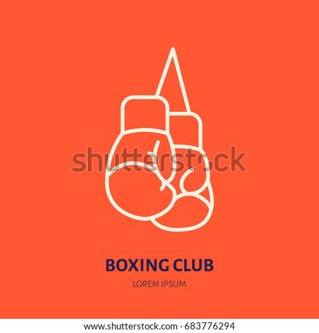 Boxing Gloves Vector Line Icon Box Stock Vector 683776294 ...