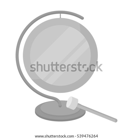 Boxing gong icon in monochrome style isolated on white background. Boxing symbol stock vector illustration.