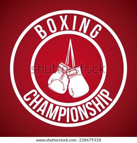 boxing graphic design , vector illustration - stock vector