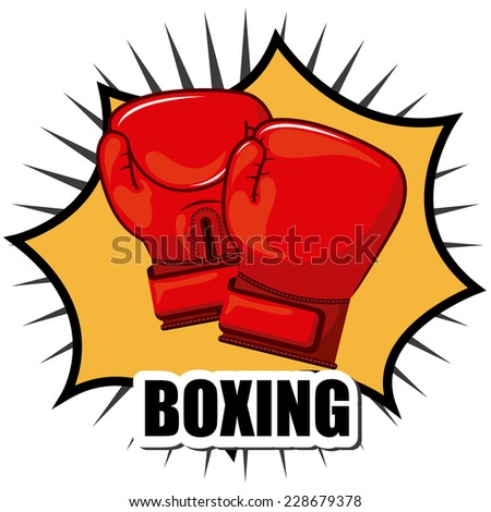boxing graphic design , vector illustration
