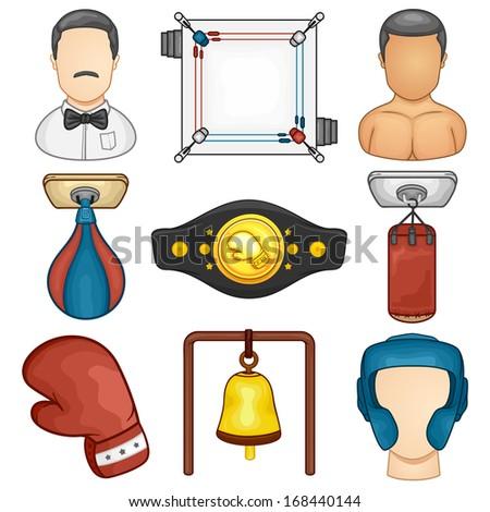 Boxing Icon - Sport - Illustration - stock vector