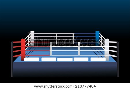 Boxing ring.  - stock vector