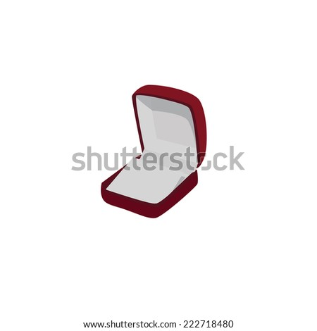 Boxing ring, box, boxing, jewellery box, empty ring box, jewellery box - stock vector