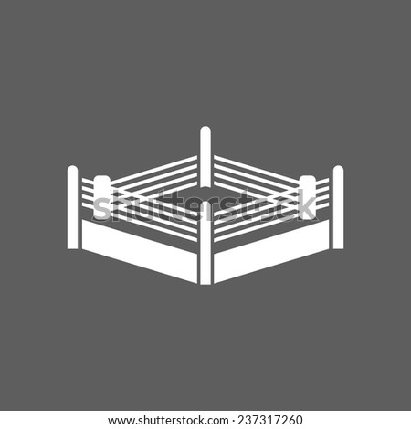 boxing ring icon - stock vector