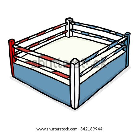 boxing stadium / cartoon vector and illustration, hand drawn style, isolated on white background.